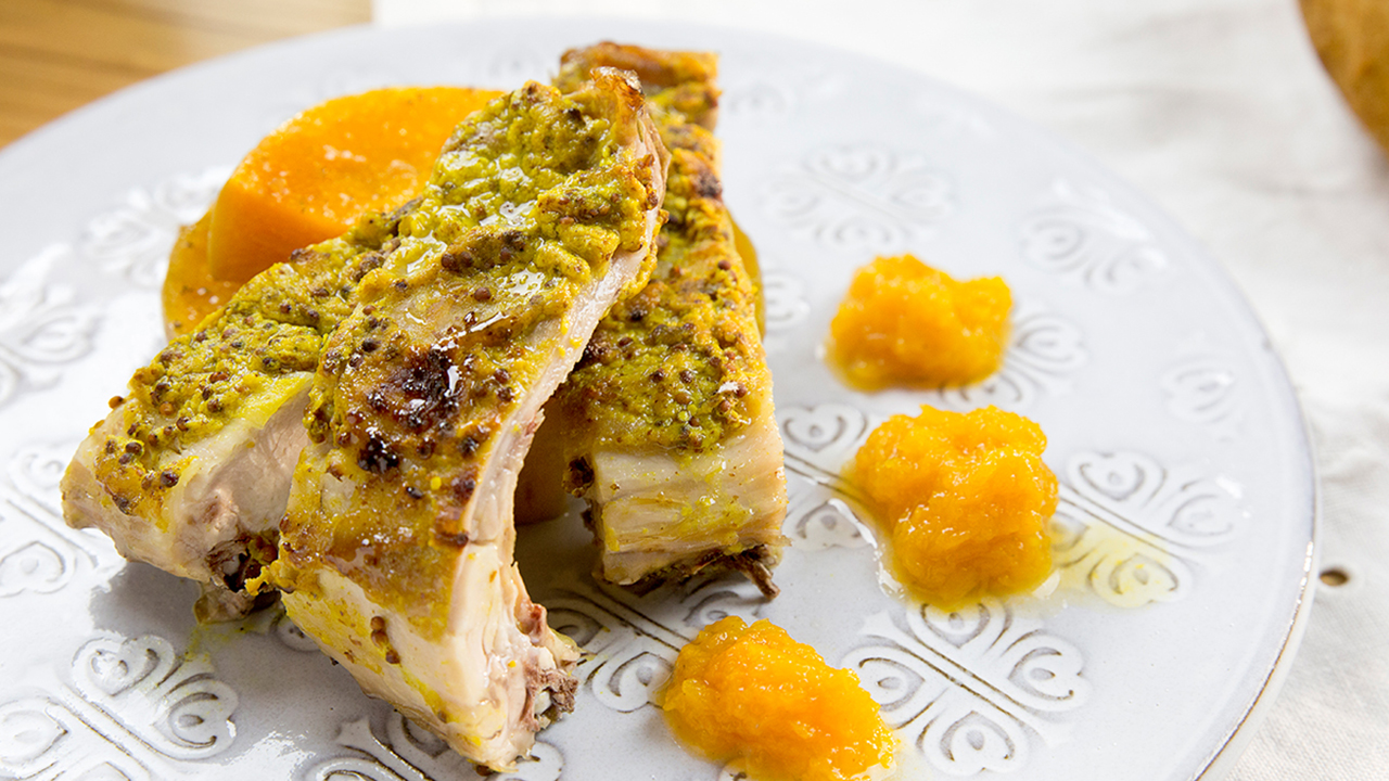 Chuletitas de conejo a la mostaza